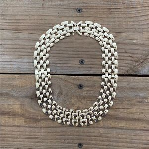 Saks 5th Avenue Gold Chain Choker Necklace